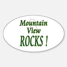 Mountain View Rocks ! Oval Decal