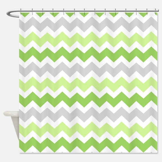green and grey shower curtain. Lime Green Grey Chevron Shower Curtain And Gray Curtains  CafePress