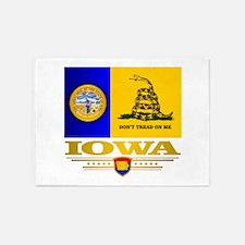 Iowa Gadsden Flag 5'x7'Area Rug