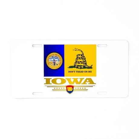 Iowa Gadsden Flag Aluminum License Plate