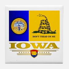 Iowa Gadsden Flag Tile Coaster
