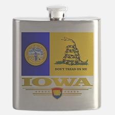 Iowa Gadsden Flag Flask