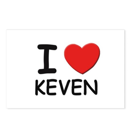 I love Keven Postcards (Package of 8)