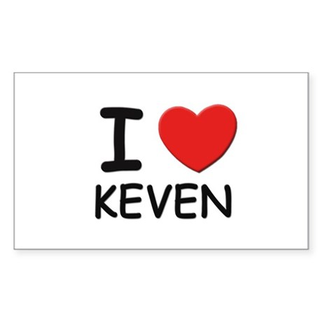 I love Keven Rectangle Sticker