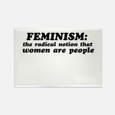 Feminism defined Rectangle Magnet