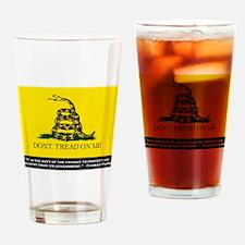 Gadsden Flag Drinking Glass