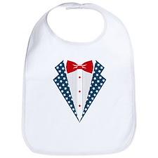 Patriotic Tuxedo Bib
