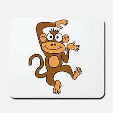 Cute Dancing Monkey Mousepad