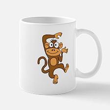 Cute Dancing Monkey Small Mugs