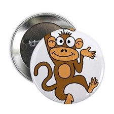 "Cute Dancing Monkey 2.25"" Button"