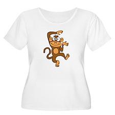 Cute Dancing Monkey Plus Size T-Shirt