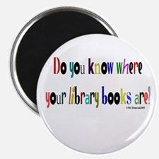 Do you know where your library books are? Magnet