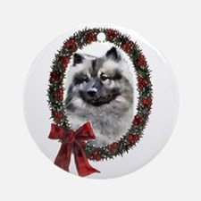 Keeshond Christmas Ornament (Round)
