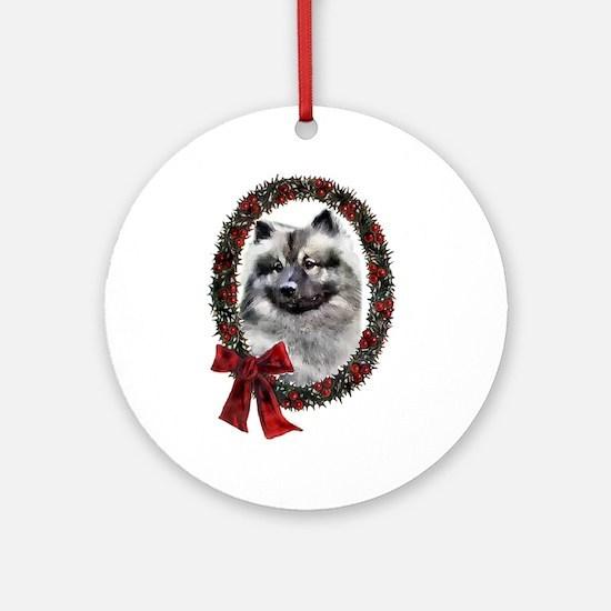 Keeshond Christmas Ornament (Round)
