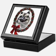 Keeshond Christmas Keepsake Box