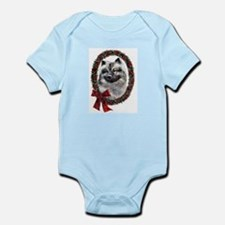Keeshond Christmas Infant Bodysuit