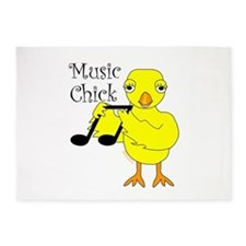 Music Chick Text 5'x7'Area Rug