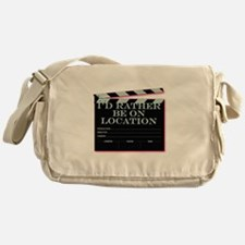 Id rather be on location Messenger Bag