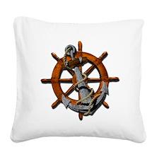 Nautical Anchor Square Canvas Pillow