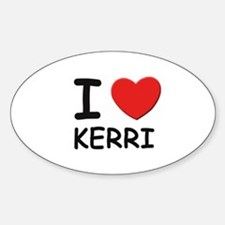 I love Kerri Oval Decal