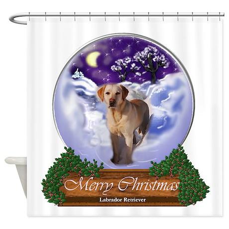 Labrador Retriever Christmas Shower Curtain