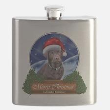 Labrador Retriever Christmas Flask