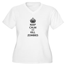 Kill Zombies Plus Size T-Shirt