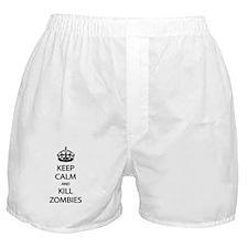Kill Zombies Boxer Shorts