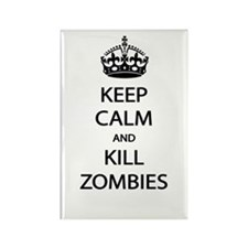 Kill Zombies Rectangle Magnet