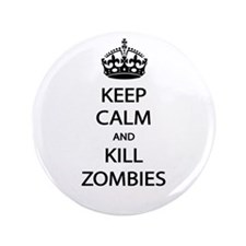"Kill Zombies 3.5"" Button (100 pack)"