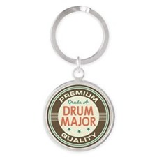 Drum Major vintage Round Keychain