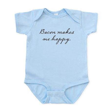 Bacon makes me happy Infant Bodysuit