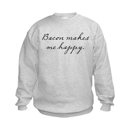 Bacon makes me happy Kids Sweatshirt