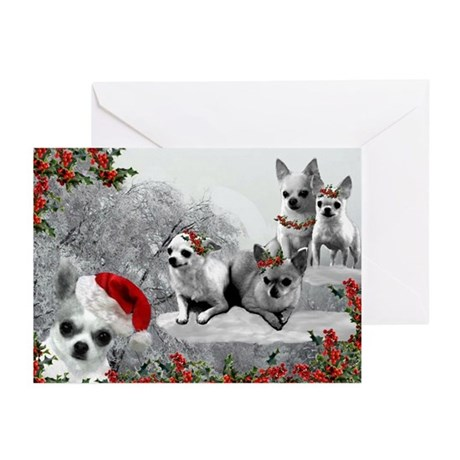 Merry Chihuahuas! Greeting Cards (Pk Of 10)