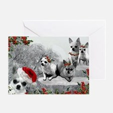 Chihuahua Christmas Dogs Greeting Card