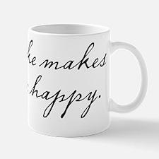 Cake makes me happy Mug