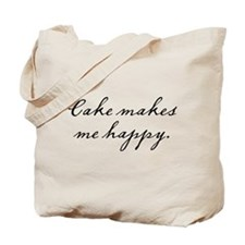 Cake makes me happy Tote Bag