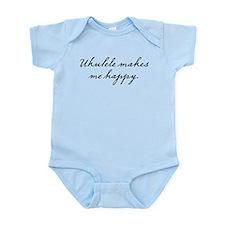 Ukulele makes me happy Infant Bodysuit