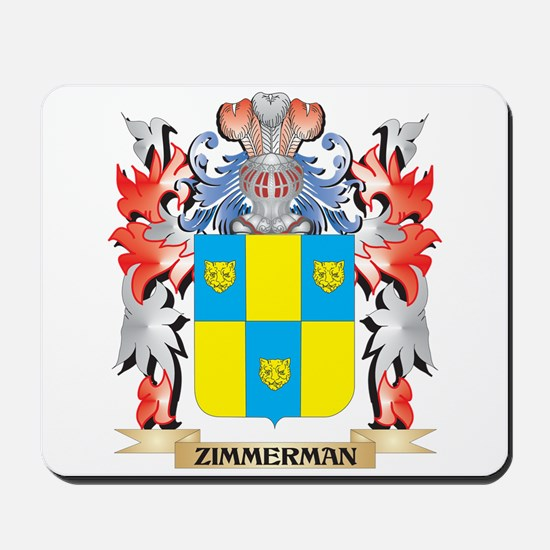 Zimmerman Coat of Arms - Family Crest Mousepad