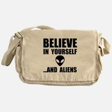 Believe Yourself Aliens Messenger Bag