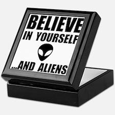 Believe Yourself Aliens Keepsake Box