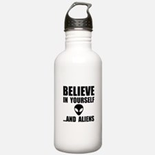 Believe Yourself Aliens Water Bottle