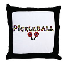 Colorful Pickleball Letters and Paddles Throw Pill