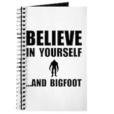 Believe Yourself Bigfoot Journal
