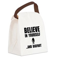 Believe Yourself Bigfoot Canvas Lunch Bag