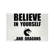 Believe Yourself Dragons Rectangle Magnet (100 pac