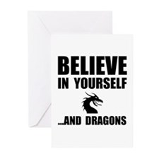 Believe Yourself Dragons Greeting Cards (Pk of 20)