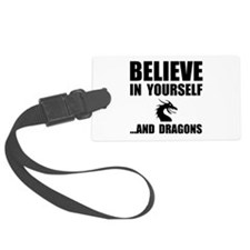 Believe Yourself Dragons Luggage Tag