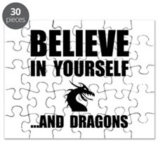 Believe Yourself Dragons Puzzle