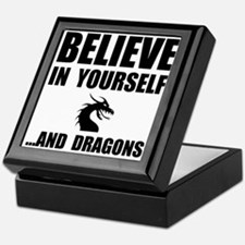 Believe Yourself Dragons Keepsake Box